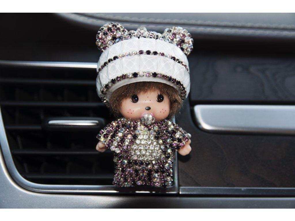 Mini Poppi Panda Bílá, osvěžovač vzduchu do auta