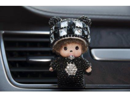 Mini Poppi Panda Stříbrno-Černá, osvěžovač vzduchu do auta